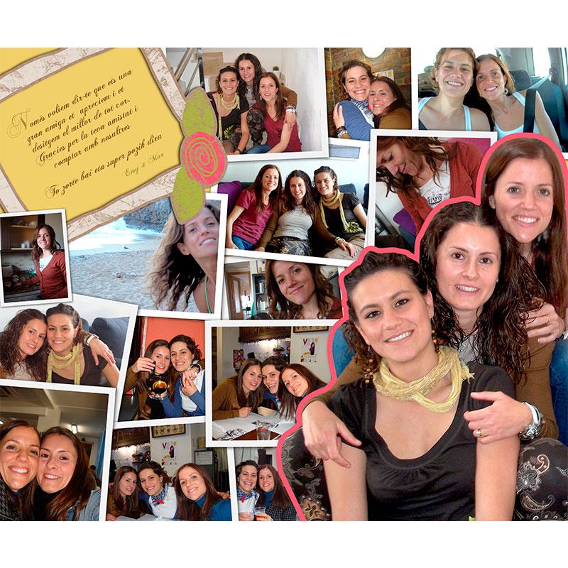 Cuadro collage mejores amigas