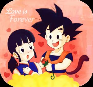 Goku y Milk se aman