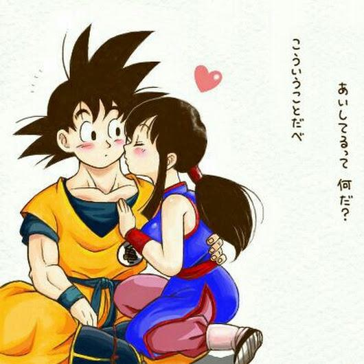 Goku y Milk enamorados