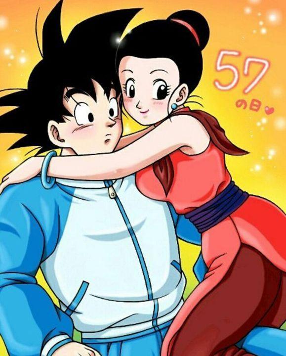 Beso de Goku y Milk