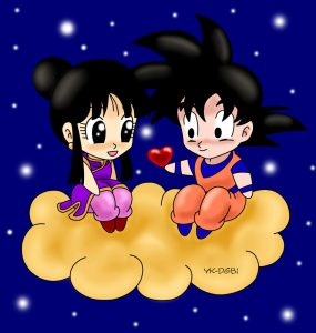 Goku y Milk de pequeños