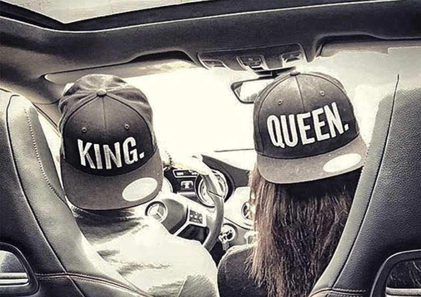 Gorra king y queen en pareja
