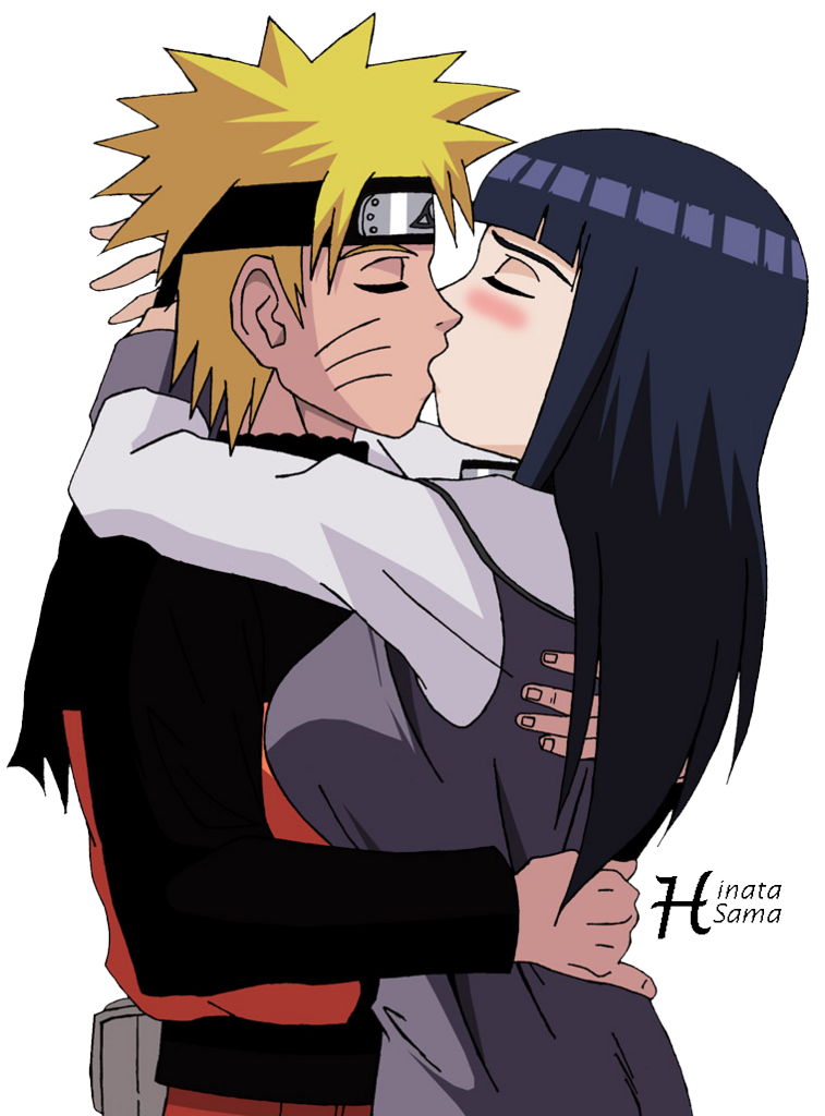 Naruto y Hinata Besandose