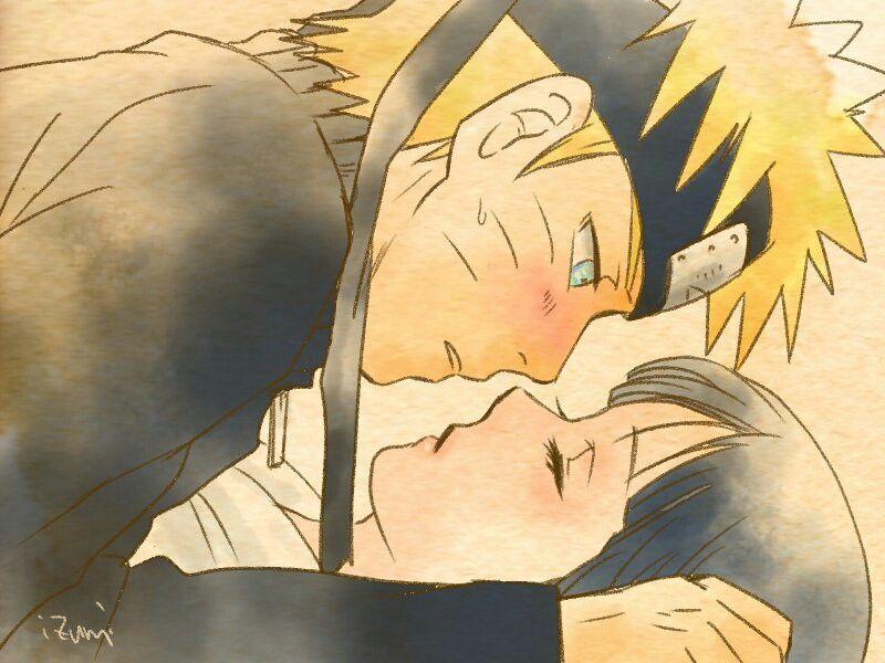 Besos de Naruto y Hinata enamorados