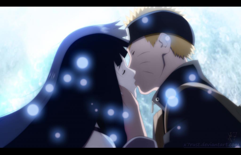 Beso de Naruto con Hinata