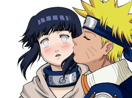 Beso de Naruto y Hinata