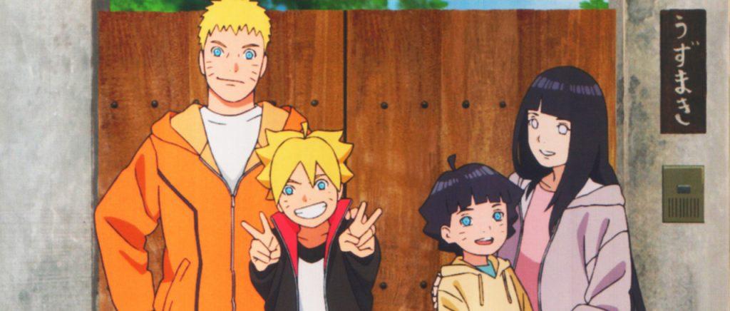 Naruto y Hinata son padres