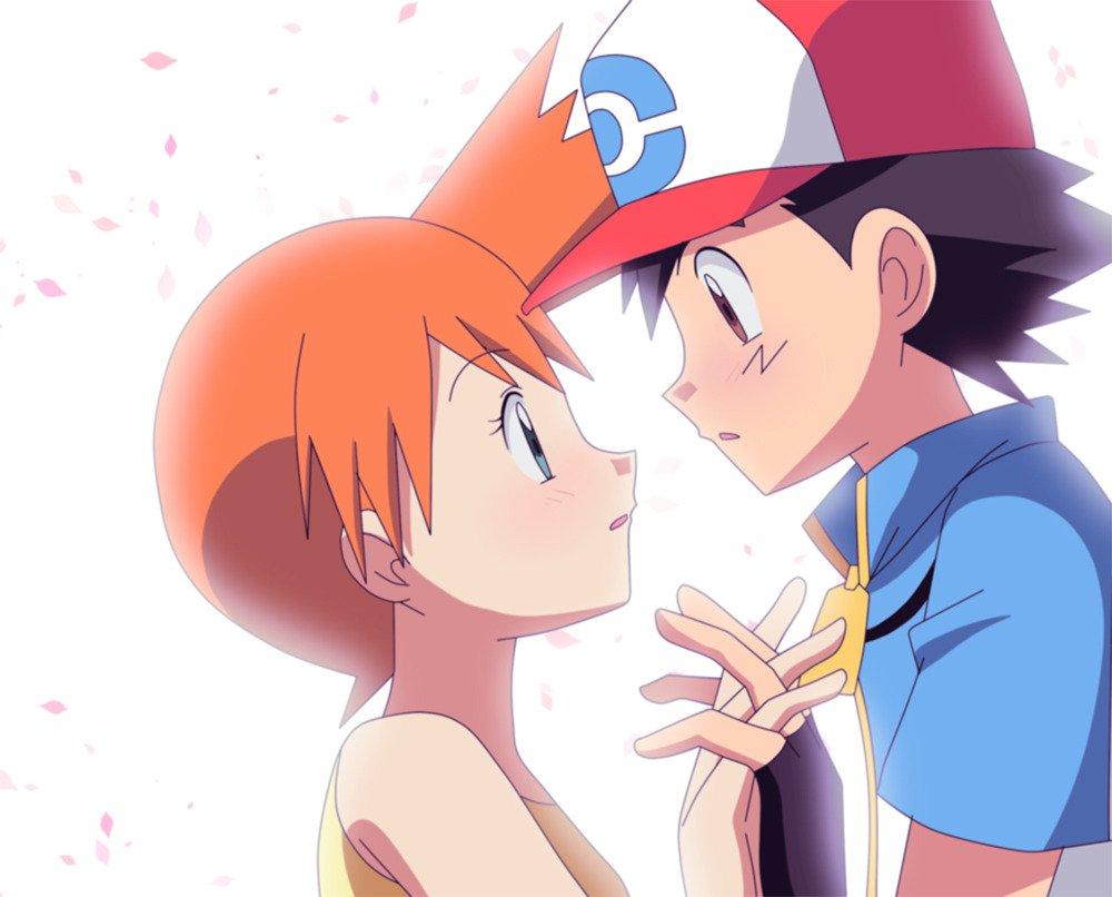 ash y misty besandose