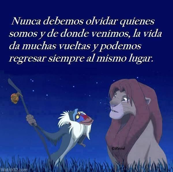 Frases de películas de Dinsey El Rey Leon