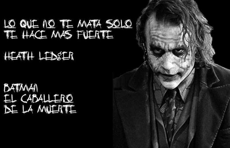 Frases películas El Guason - the joker de batman